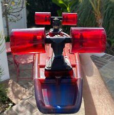 Vintage 1977 Original Unused Skateboard Complete Deck Rare Wide Wheels - Red!