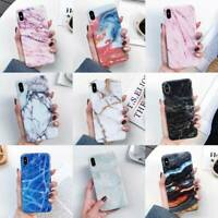 For iPhone XS Max XR X 6S 7 8 Plus Marble Pattern TPU Case Shockproof Back Cover