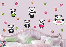 Baby Panda-Confezione da 22-Muro ARTE Vinile Adesivi Decalcomanie per Bambini Nursery