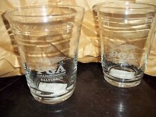 6 PC SET PGA CHAMPIONSHIP BAR WARE GLASSES 2016 BALTUSROL STERLING CUT GLASS NEW