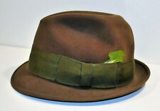 05818777a Feather Fedora/Trilby Vintage Hats for Men 7 1/8 Size for sale | eBay