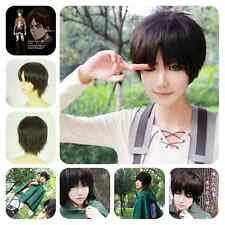 Attack on Titan Straight Short Coffee Brown Eren Jaeger Unisex Anime Cosplay Wig