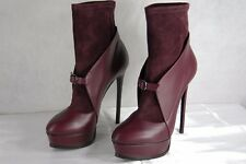 "SUPER SEXY !!! CASADEI 6"" HIGH  HEEL PLATFORM LEATHER & SUEDE BOOTS US 10.5"