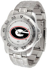 Georgia Bulldogs Licensed Mens Sport Steel Band Watch