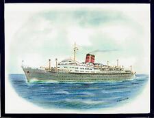Original Art Work.ss Ocean Monarch.ocean liner. Furness, Withy Line