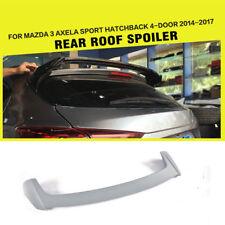 FRP Grey Rear Roof Trunk Spoiler Fit For Mazda 3 Axela Hatchback 4-Door 14-17