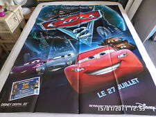 AFFICHE   DISNEY / PIXAR / CARS 2 / voiture / 120X160