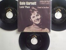 LOT OF 4 'ORIGINAL CLASSIC HIT' 45's + 1PS[Lovin' Place] THE 60's!