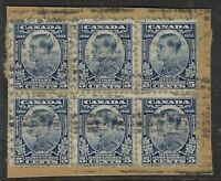 Scott 193 - 5c Prince of Wales 1932 Imperial Ottawa Conference Block of 6 piece