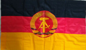 EAST GERMAN/DDR Official building ceremonial flag with official issue label