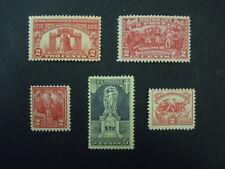 1926-1927 US Commemorative Year Set #627 628 629, 643 644 MNH OG F/VF