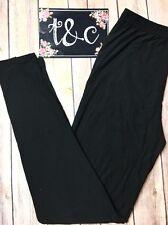 NWT TC Black Leggings Plus fits size 12-18 Buttery Soft (See Description)