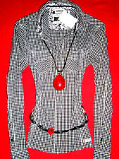 STREET ONE BLUSE KARIERT TUNIKA KARO ROMANTIK RoCKaBiLLY BOHO 36 38 NEU TOP!
