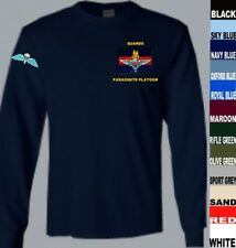 TO CLEAR GUARDS PARACHUTE PLATOON + P COY WINGS LONG SLEEVE T SHIRT BLUE LARGE