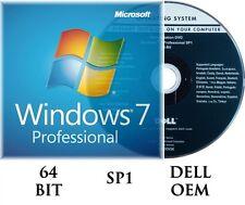 Microsoft Windows 7 Professional PRO 64 Bit Full + Upgrade SP1 + Hard Drive...