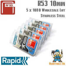 5 x 1060 Rapid R53 10mm STAINLESS STEEL Staples Handy Pack for WHOLESALE