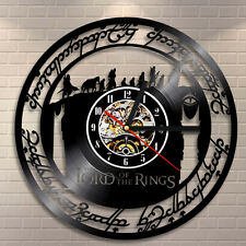 Laser Etched Vinyl Record Wall Clock The Lord of the Rings 3D Decor Home Watch