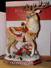Fitz & Floyd Deer/Reindeer Damask Collection Figurine New In Box