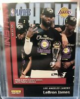 2020 Panini Instant LEBRON JAMES MVP NBA FINALS CHAMPIONS ONLY 3938 MADE LAKERS