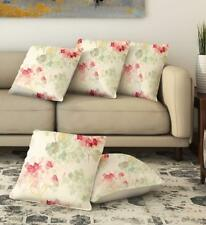 """Pack of 5 Pcs Cushion Cover Beige Square Large Pillow Case Sofa Couch 16"""" X 16"""""""