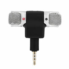 3.5mm Mini Stereo Wireless Spy Microphone Mic Gold Plug for iPhones PC Desktop H