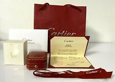 Authentic Cartier Ring Box Empty Red Display Presentation & Certificate, Ribbon