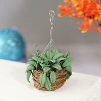 1:12 Dollhouse Miniature Handmade Tiny Small Green Tree Plant Pot Clay Models