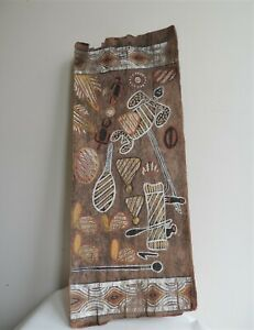 Aboriginal  Bark Painting NT  Circa Mid 20th Century