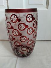 Tozai Home red bubble-pattern vase