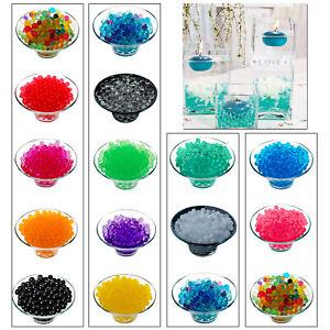 Wasser Perlen Boden Bio Gel Kristall Vase Füller 2 Packs Hochzeit Party Dekor UK