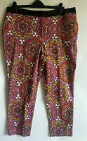 M&S Ladies Psychedelic Boho Ethnic Hippie Trousers UK 16