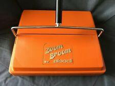 Vintage Orange Bissell Zoom Broom Carpet Sweeper - Great Condition!