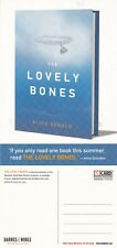 THE LOVELY BONES A NOVEL BY ALICE SEBOLD UNUSED ADVERTISING COLOUR POSTCARD