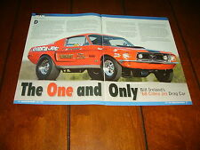1968 MUSTANG BILL IRELAND COBRA JET DRAG RACE CAR ***ORIGINAL 2008 ARTICLE***