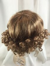 "9/10"" Curls Bangs Strawberry Blnd Doll Wig Reborn OOAK BJD Bisque Repair ANGELA"