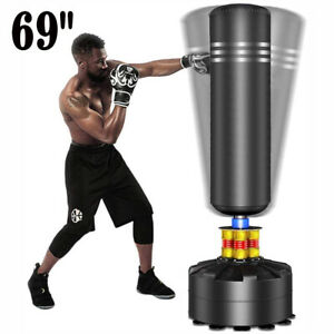 5.7FT Free Standing Boxing Punch Bag Indoor Kick Training Heavy Duty with Pads