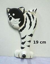 chat en bois ,patère,porte manteau,décoration, chat,cat ,collection   **G22