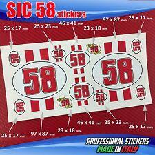 Set n.12 adesivi SIC 58 Simoncelli Red Ciao SIC SIC9