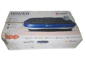 Lifepro Waver Vibration Plate Body Exercise Workout Equipment Machine Set, Blue
