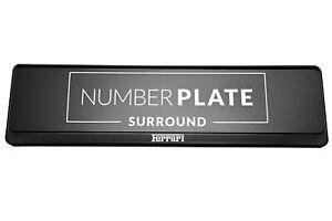 1 x Prestige Black Stainless Steel Number Plate Holder for any Ferrari