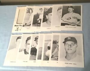 1964 New York Yankees Picture Photo Pack 12 Cards Mickey Mantle Roger Maris etc
