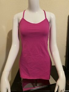 Lululemon Power Y Tank Top Hot Pink Size 6