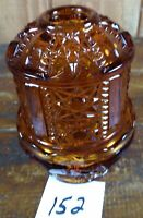 Fairy Light Candleholder Indiana Glass Amber Brown Princess Light Votive