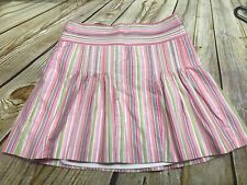 J Crew Women's Size 2 Lined Striped Fit And Flare Skirt GUC