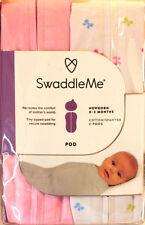 SwaddleMe Newborn Swaddle Pod Baby bows pink heart Girl Blanket Reg $25+