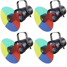 4x EUROLITE Farbwechslerset + PAR-36 Pinspot + Leuchtmittel - PIN-Spot Farbrad