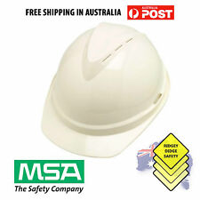 Msa V-Gard 500 Safety Helmet 6 Pt Suspension Hard Hat White