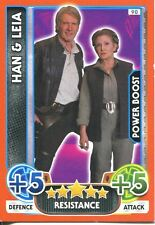 Star Wars The Force Awakens Force Attax Extra Card #90 Han & Leia