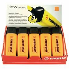 Stabilo BOSS Orange Highlighters Pack of 10 Revision School College