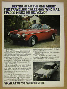 1965 Volvo 1800S 1800-S with 774,000 Miles red car photo 1978 vintage print Ad